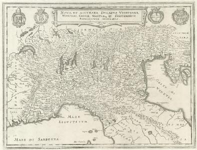 Nova et Accvrata Dvcatvs Venetiani, Mediolani, Genvae, Mantvaeque et Finitimorvm Principatvm delineatio