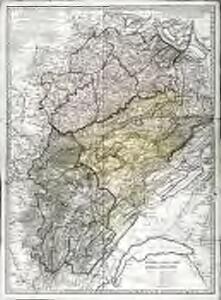 Carte des départemens de la Haute Saône, du Doubs et du Jura, qui composoient, ci-devant, la province de Franche-Comté