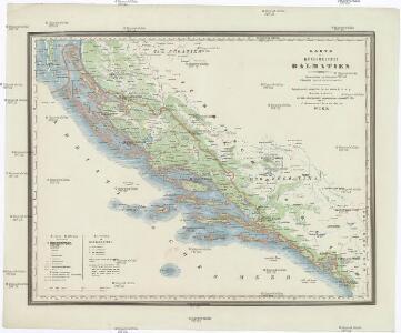Karte des Königreiches Dalmatien