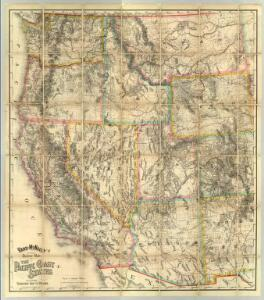 Rand - McNally Official Railway Map Of The Pacific Coast States Including Territory East To Denver