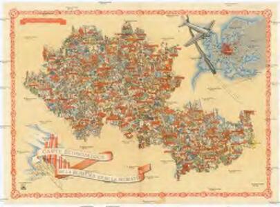 Carte économique de la Boheme et de la Moravie