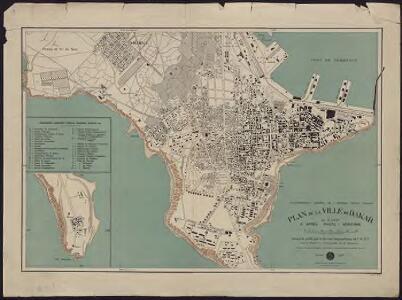 Plan de la ville de Dakar au 5 000e d'après photo-aérienne