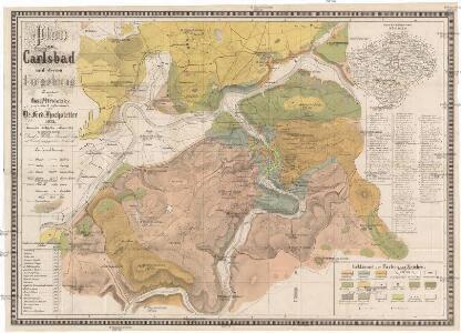 Plan von Carlsbad und dessen Umgebung