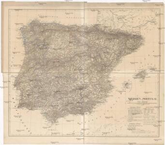 Spanien u. Portugal in vier Blättern