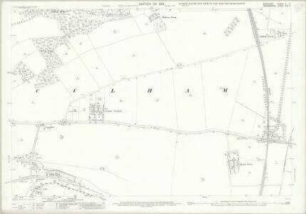 Berkshire X.11 (includes: Clifton Hampden; Culham; Sutton Courtenay) - 25 Inch Map