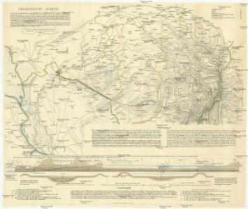 Übersicht-Karte von der südlichen größeren Hälfte des Temesvarer Banat's
