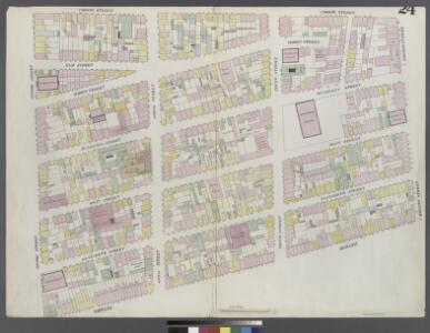 Plate 24: Map bounded by Houston Street, Bowery, Broome Street, Crosby Street
