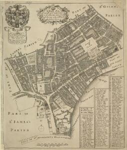 A MAPP of the Parish of St MARTINS in the FIELDS, taken from ye last survey, with Additions By Blome, Richard.