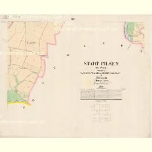 Pilsen (Plzen) - c5849-1-012 - Kaiserpflichtexemplar der Landkarten des stabilen Katasters