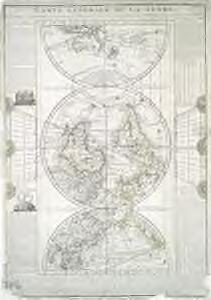 Carte generale de la terre: appliquée a l'astronomie pour l'etude de la géographie terrestre et celeste / dressée par le Sr. Flecheux, d'apres les nouvelles observations; Picquet, sculp., 1782.