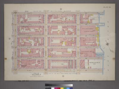 Plate 33, Part of Section 5: [Bounded by E. 47th Street, (East River Piers) First Avenue, E. 42nd Street and Third Avenue.]