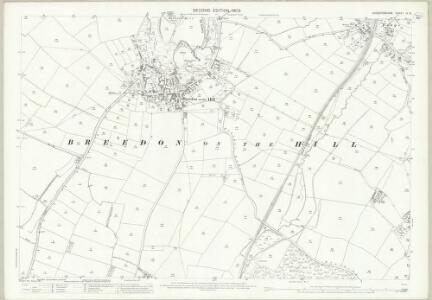 Leicestershire IX.15 (includes: Breedon on the Hill; Isley cum Langley; Staunton Harold; Worthington) - 25 Inch Map