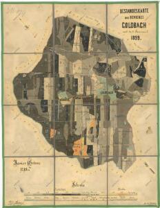 Porostní mapa revíru Zlatý Potok