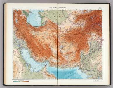 143-144.  Iran, Afghanistan, West Pakistan.   The World Atlas.
