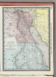 Egypt, Arabia Petraea, and Lower Nubia.