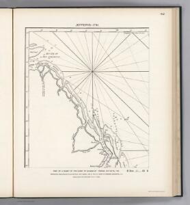 (Facsimile)  Part of Chart of the Guiana Coast by Jefferys.