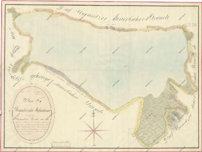 Geometrický plán Horusického rybníka, deputátních a činžovních pozemků 1