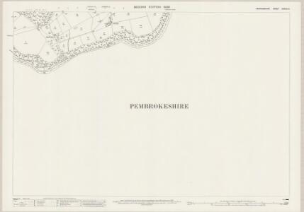 Cardiganshire XXXVIII.14 (includes: Cilgerran; Llangoedmor; Maenordeifi) - 25 Inch Map