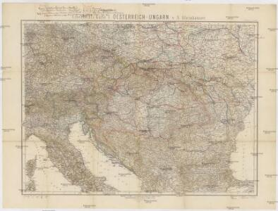 Uibersichts-Karte v. Oesterreich-Ungarn