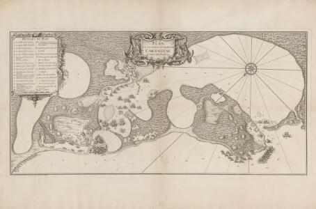 Plan de la Ville et Rade de Cartagene et de ses Forts