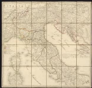 Carta postale e stradale dell'Italia