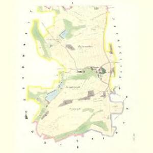 Aunitz (Aunice) - c8259-1-001 - Kaiserpflichtexemplar der Landkarten des stabilen Katasters
