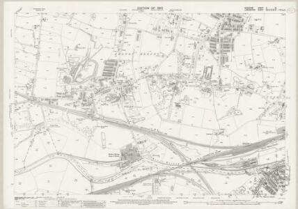 Cheshire X.14 (includes: Cheadle and Gatley; Manchester; Stockport) - 25 Inch Map