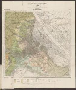 Geologische Karte der Umgebung Wiens