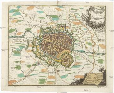 PLAN von der berühmten Stadt und Citadelle DORNICK