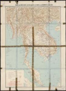 Carte des missions catholiques du Siam, de la Birmanie et du Laos