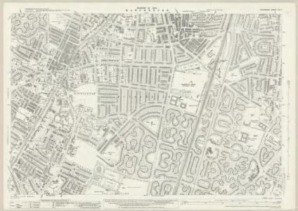 Lancashire CXI.7 (includes: Manchester; Stockport) - 25 Inch Map