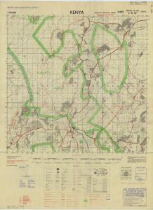 Kenya 1:50,000, G.S.G.S. 4786, Marmanet Forest
