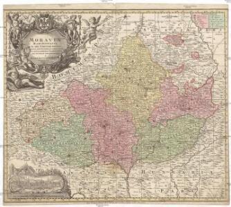 Moravia marchionatus in sex circulos divisus