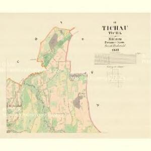 Tichau (Ticha) - m3107-1-002 - Kaiserpflichtexemplar der Landkarten des stabilen Katasters