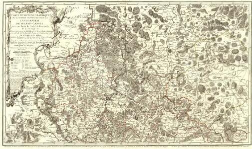 Carte Demi-Topo-Graphique De La Partie Septentrionale du Landgraviat de Hesse-Cassel