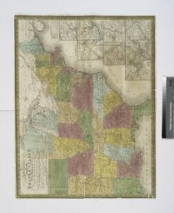Mitchell's map of the United States : showing the principal travelling turnpike and common roads, on which are given the distances in miles from one place to another, also the courses of the canals & rail roads throughout the country, carefully compi