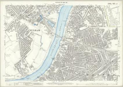 London (Edition of 1894-96) C (includes: Battersea; Chelsea; Fulham) - 25 Inch Map