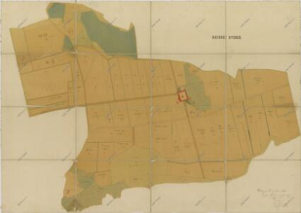 Hospodářská mapa pozemků dvora Dvorce 1