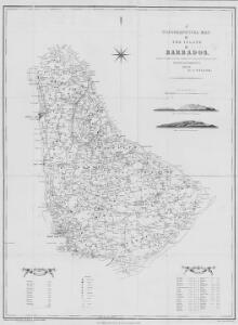 A Topographical Map of the Island of Barbados, based on a survey taken by W. Mayo, in 1721, corrected and improved to 1859 by A. Taylor