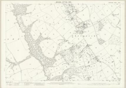 Shropshire LXVI.8 (includes: Chelmarsh; Deuxhill; Glazeley) - 25 Inch Map
