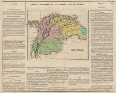 Geographical, Statistical and Historical Map of Colombia