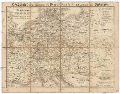 R.A. Schulz's neue praktische Reise-Karte mit Angabe der Distanzen