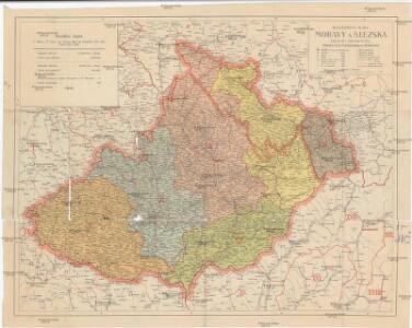 Místopisná mapa Moravy a Slezska
