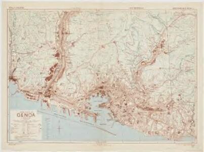 Town plan of Genoa (Genova)