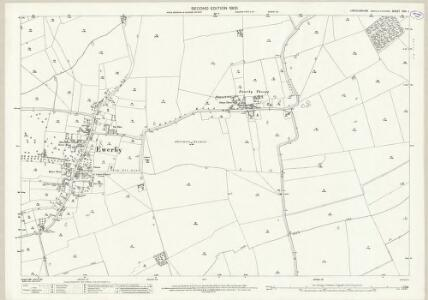 Lincolnshire CVII.1 (includes: Asgarby and Howell; Ewerby and Evedon) - 25 Inch Map