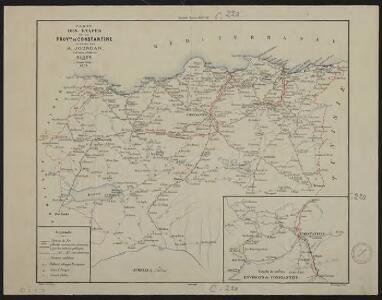 Carte des étapes de la province de Constantine