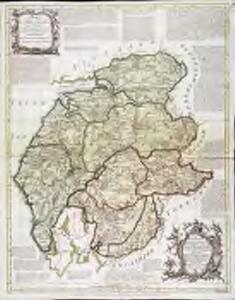 A new map of the counties of Cumberland and Westmoreland
