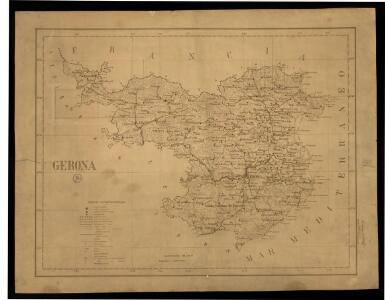 Gerona: [provincia] / Madrid 25 de abril de 1930, el topógrafo Manuel de Madariaga [firma manuscrita]
