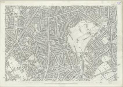 London (First Editions c1850s) LXVI (includes: Camberwell; Lambeth St Mary) - 25 Inch Map