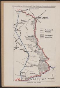 Ethnographische Uebersicht nach überwiegenden Siedlungsverhältnisse